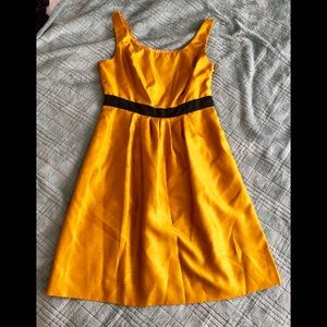 The Limited - Gold Dress w/Black waistband Size 6